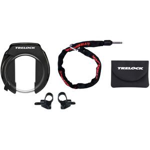 Trelock RS 351 P-O-C/ZR 355 Rahmenschloss Set schwarz schwarz