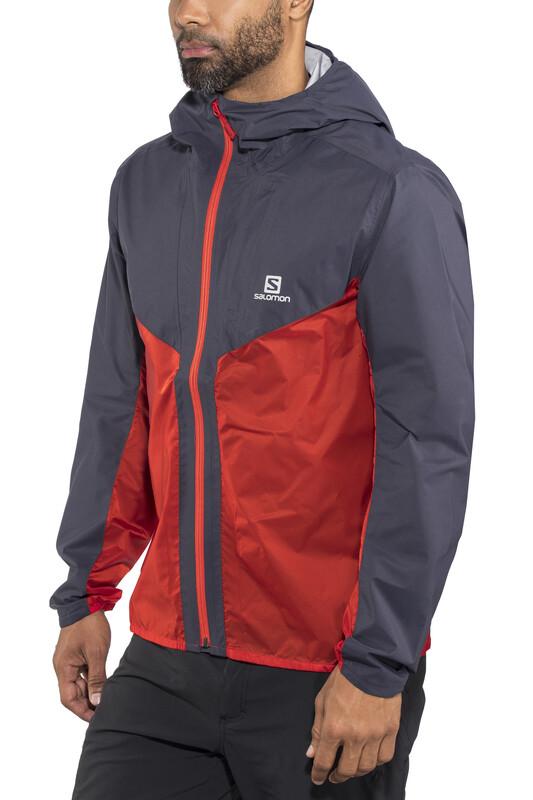 Salomon Outspeed Hybrid Jacket Men graphite/fiery red L 2018 Regenjacken, Gr. L