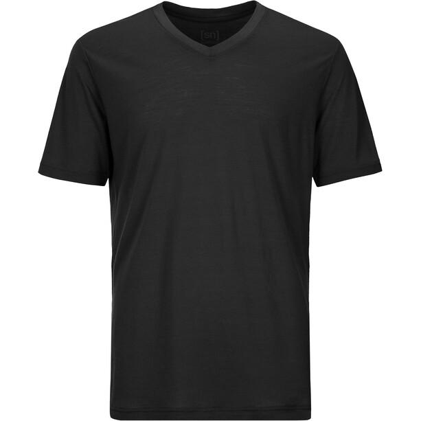 super.natural Base 140 V-Ausschnitt T-Shirt Herren cavier