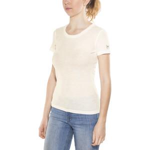super.natural Scarlett Geripptes Kurzarmshirt Damen fresh white fresh white