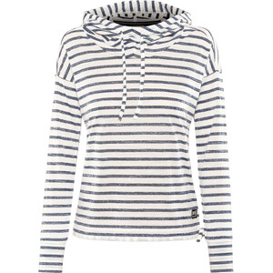 super.natural Funnel Hoodie Printed Damen fresh white/fine stripe print fresh white/fine stripe print