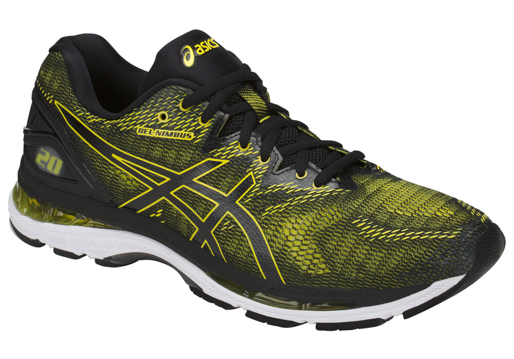 asics gel nimbus 20 chaussures running homme jaune noir boutique de v los en ligne. Black Bedroom Furniture Sets. Home Design Ideas