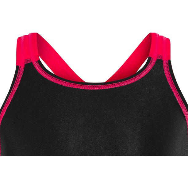 speedo Fastskin Endurance+ Openback Combinaison courte Fille, noir/rouge