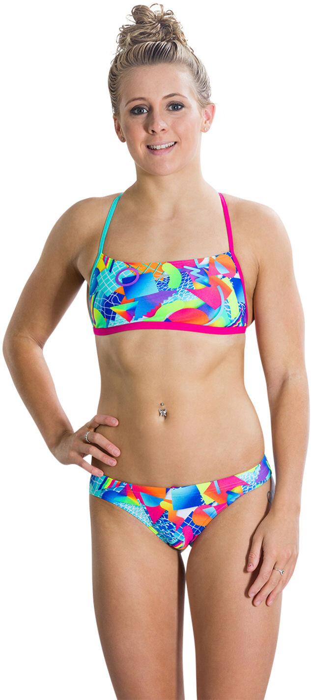 speedo digi 2 piece bikini femme multicolore sur. Black Bedroom Furniture Sets. Home Design Ideas