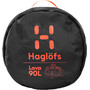 Haglöfs Lava 90 Duffel Bag true black/habanero