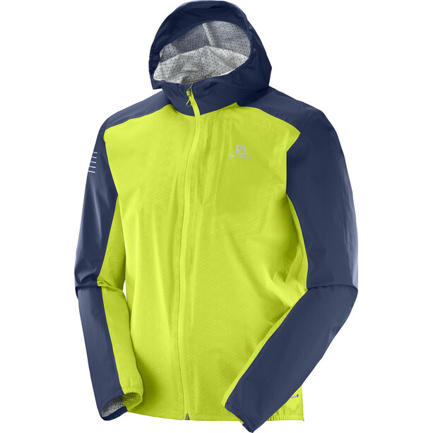 Salomon Bonatti WP Jacket Herr acid lime/dress blue