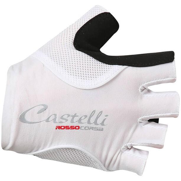 Castelli Rosso Corsa Pave Handschuhe Damen white/black