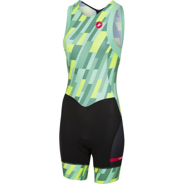 Castelli Short Distance Racesuit Damen pastel mint/yellow fluo/black