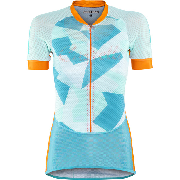 Castelli Climber's Trikot Damen sky blue/orange fluo