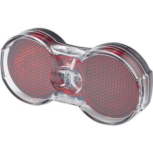 Busch + Müller Toplight Flat plus Éclairage dynamo arrière, noir/rouge noir/rouge