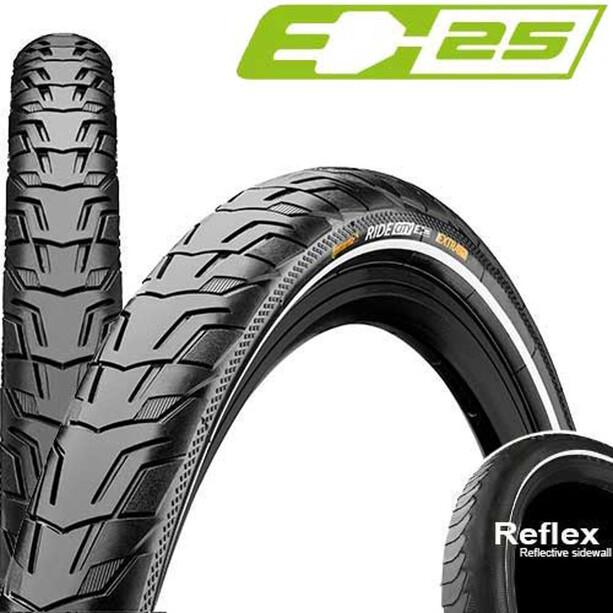 "Continental Ride City Clincher Tyre 28"" Reflex, black"