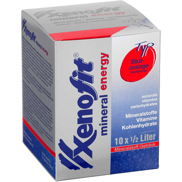 Xenofit Mineral Energy Drink Portionsbeutel 10x36g Blutorange