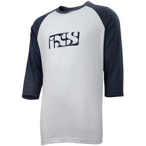 IXS Brand 6.1 3/4 Arm Shirt Herren white / night blue white / night blue