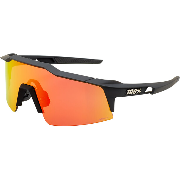 100% Speedcraft Brille Small soft tact black | hd multilayer red mirror