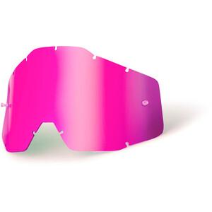 100% Verres de remplacement, pink / mirror pink / mirror