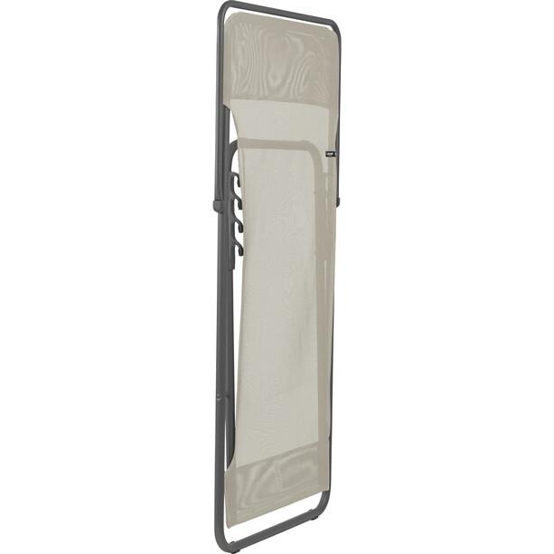 Lafuma Mobilier Maxi Transat Liegestuhl Batyline weiß/grau