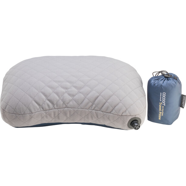 Cocoon Air Core Daunen-Reisekissen dark indigo/grey