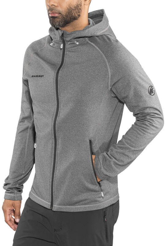 Mammut Runbold ML Hooded Jacket Men black mélange L 2018 Fleecejacken, Gr. L