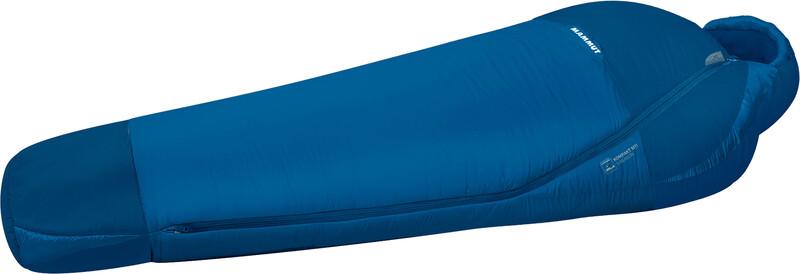 Kompakt MTI 3-Season Wide Sleeping Bag 195cm dark cyan-cobalt left 2018 Schlafsäcke