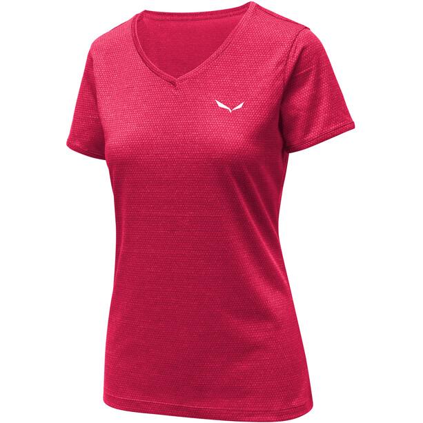 SALEWA Puez 2 Dry Kurzarm T-Shirt Damen rose red melange