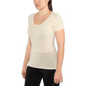 Icebreaker Siren Lyhythihainen Sweetheart-kauluksinen paita Naiset, valkoinen valkoinen