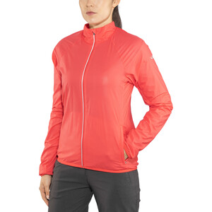 Icebreaker Rush Windbreaker Jacke Damen poppy red/embossed poppy red/embossed