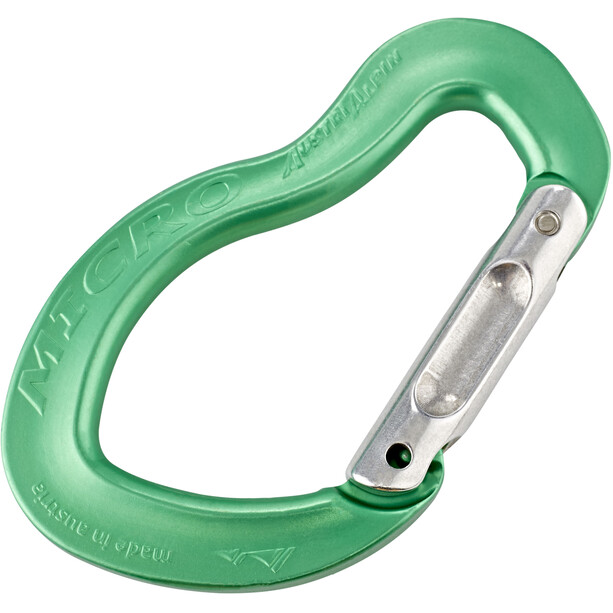 AustriAlpin Micro Straight Snapgate Carabiner green anodised