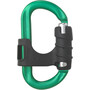 AustriAlpin Ovalock Snapgate Carabiner for safer belaying green anodised