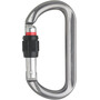 AustriAlpin Ovalo GI Screwgate Carabiner with Visual Safety Band anthracite anodised