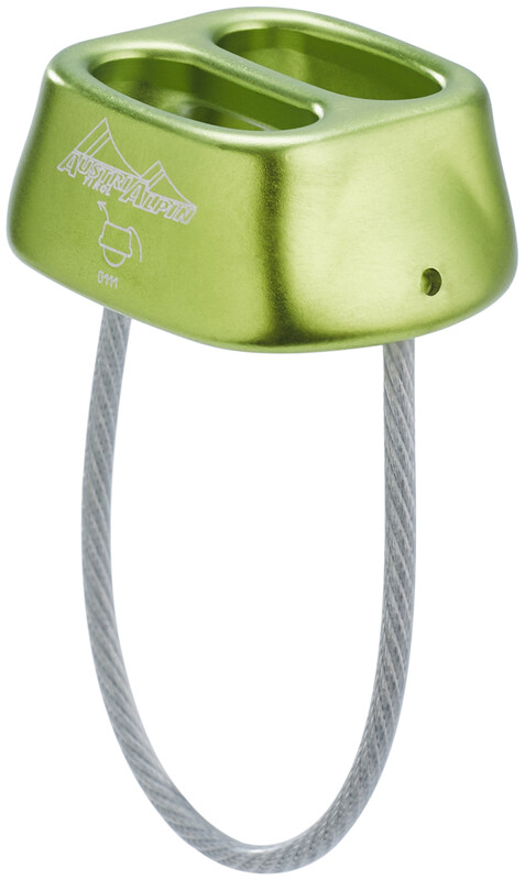AustriAlpin Tuber Standard Belay Device lime-green anodized  2018 Taubremser