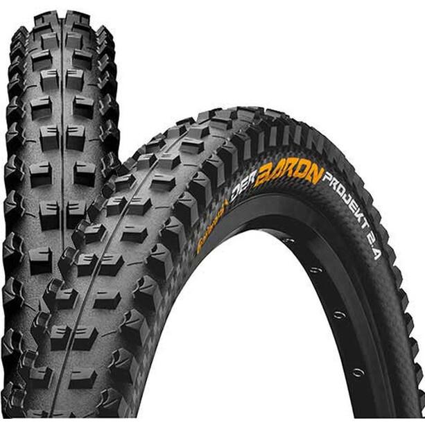 "Continental Der Baron 2.4 Projekt Folding Tyre 26"" TLR E-25 Apex, black"