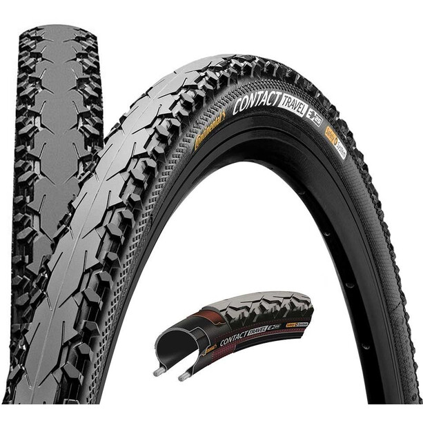 "Continental Contact Travel Wired-on Tire 26"" E-25 DuraSkin Reflex black"