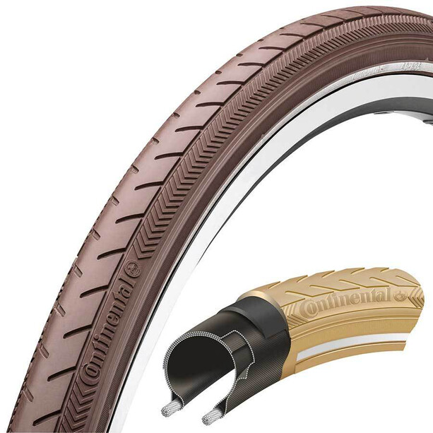 "Continental Ride Classic Clincher Tyre 28"" E-25 Brun"