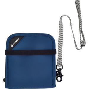 Pacsafe RFIDsafe V100 Billetera plegable, azul azul