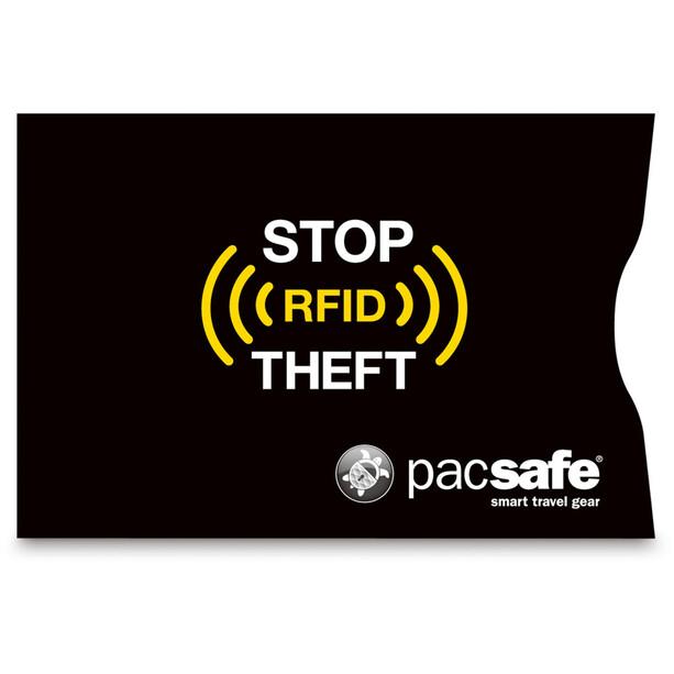 Pacsafe RFIDsleeve 25 Kreditkartenhülle 2er Pack schwarz