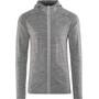 Icebreaker Quantum LS Zip Hood Jacket Herr gritstone hthr