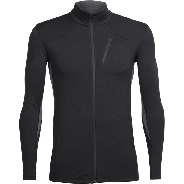Icebreaker Fluid Zone LS Zip Shirt Herr black/black