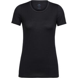 Icebreaker Tech Lite SS Low Crewe Shirt Dam black black