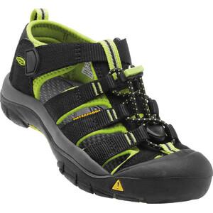 Keen Newport H2 Sandals Ungdomar black/lime green black/lime green