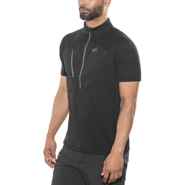 Millet Elevation Short Sleeve Zip Shirt Herr black-noir