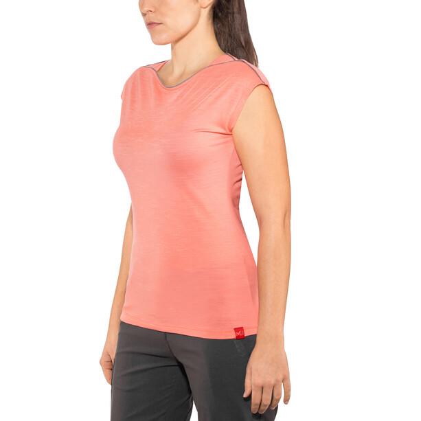 Millet Cloud Peak Short Sleeve Shirt Dam peach
