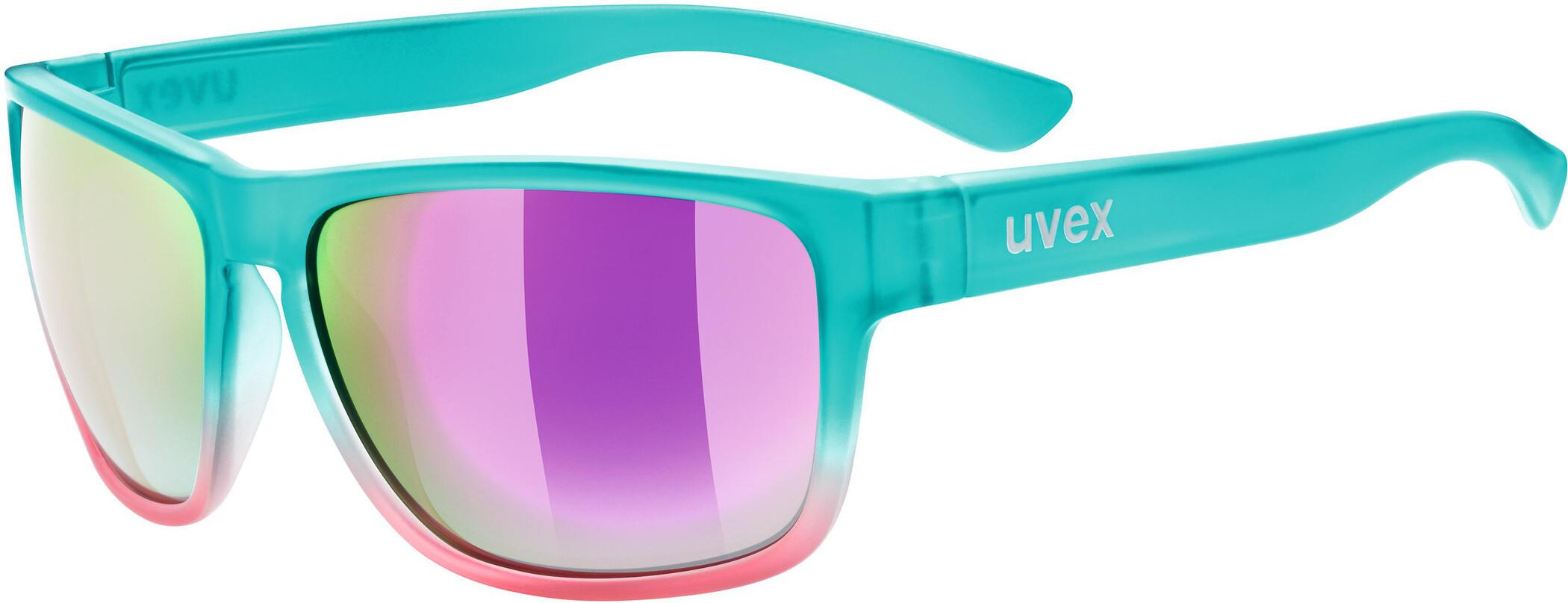 Uvex Fahrradbrille Lifestyle Sonnenbrille lgl 34 blue-pink L82dcWv
