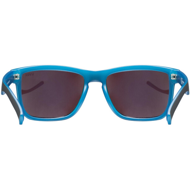UVEX LGL 39 Brille black matt blue/mirror blue