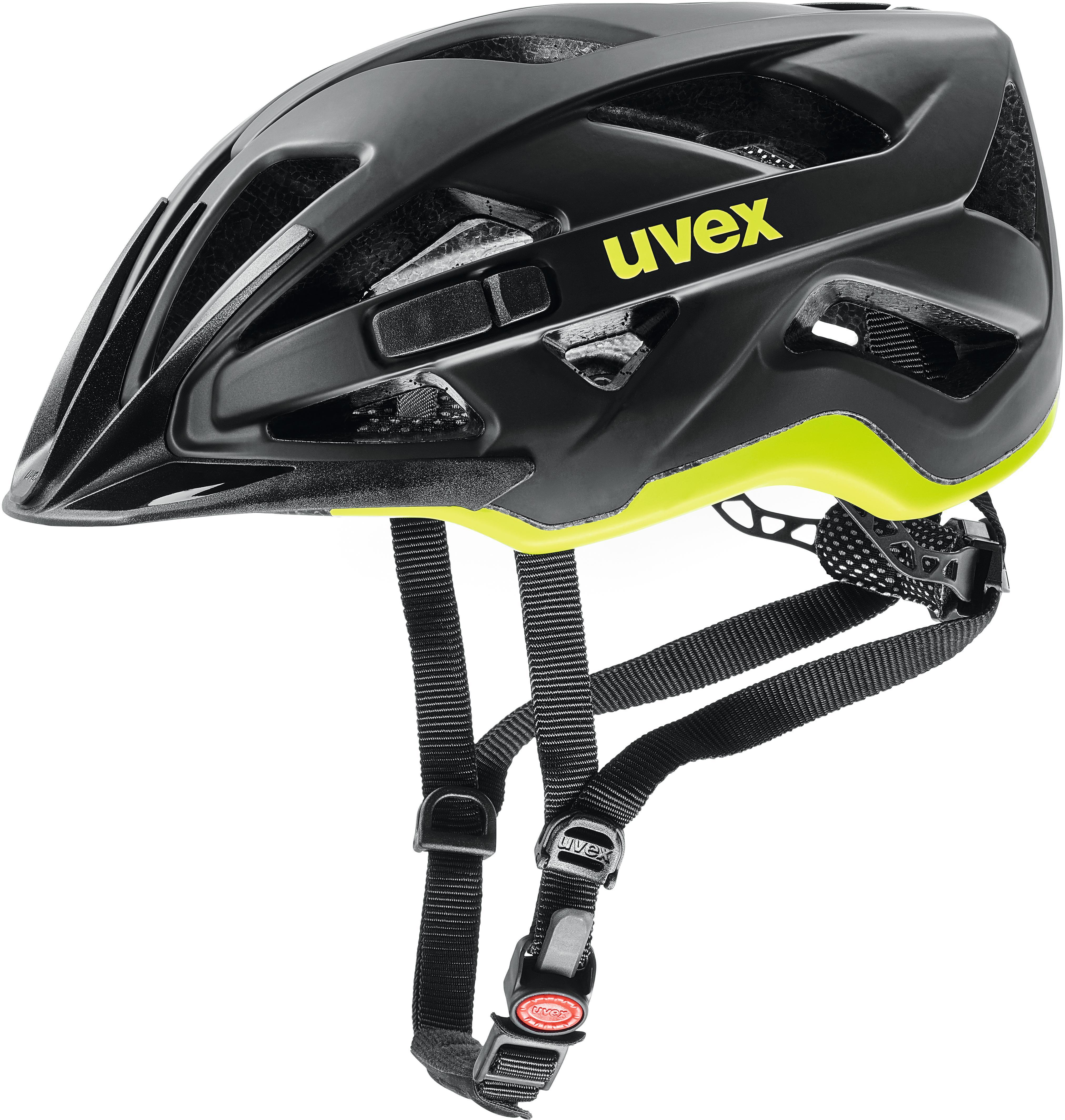 uvex active cc casco de bicicleta negro. Black Bedroom Furniture Sets. Home Design Ideas