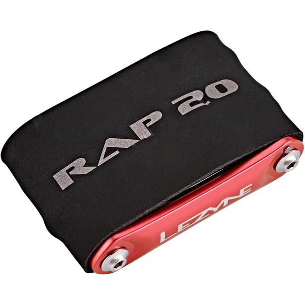 Lezyne Rap-20 Multitool rot/schwarz
