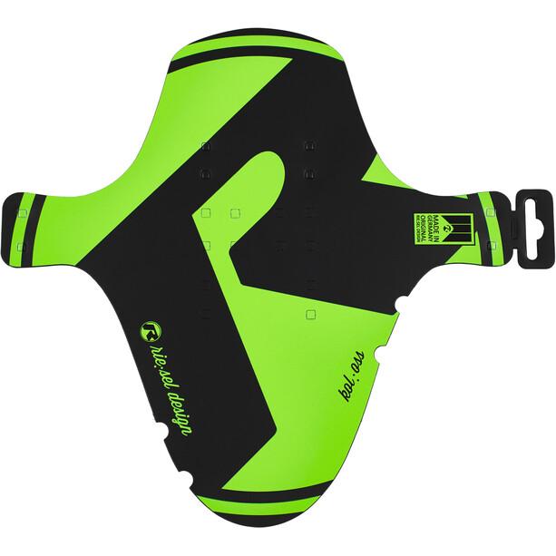 """Riesel Design kol:oss Front Mudguard 26-29"""", noir/vert"""