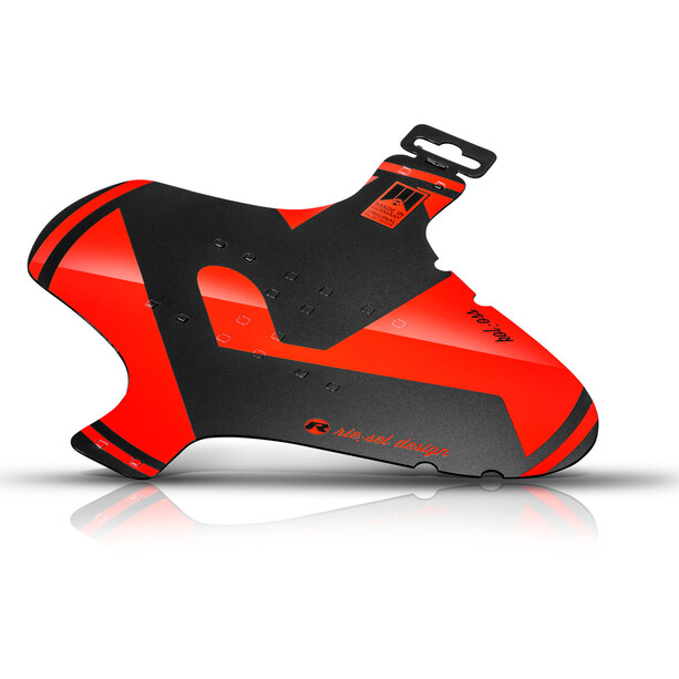 """Riesel Design kol:oss Front Mudguard 26-29"""" Large red"""