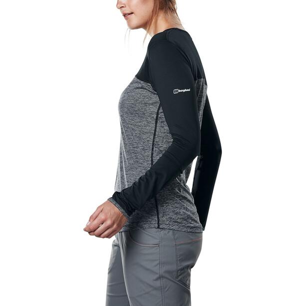 Berghaus Voyager Tech T-Shirt Langarm Rundhals Baselayer Damen carbon marl/jet black