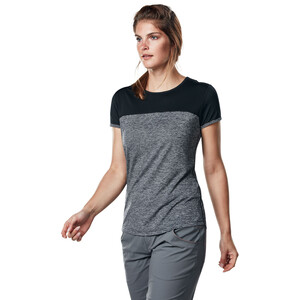 Berghaus Voyager Tech T-Shirt Kurzarm Rundhals Baselayer Damen carbon marl/jet black carbon marl/jet black