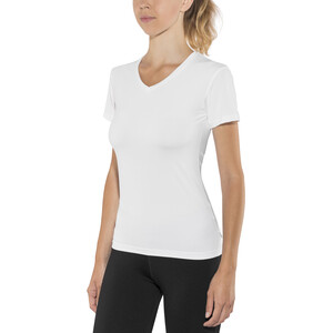 Craft Essential V-Ausschnitt Kurzarmshirt Damen white white